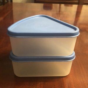 Tupperware Triange Wedge Containers with seals